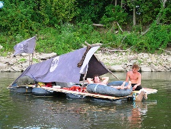 handmade floating raft