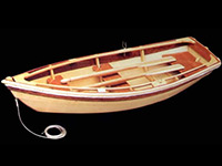 Wood model dinghy